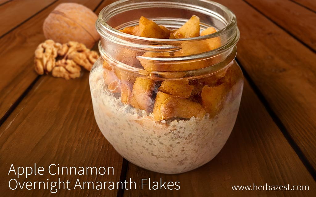 Apple Cinnamon Overnight Amaranth Flakes