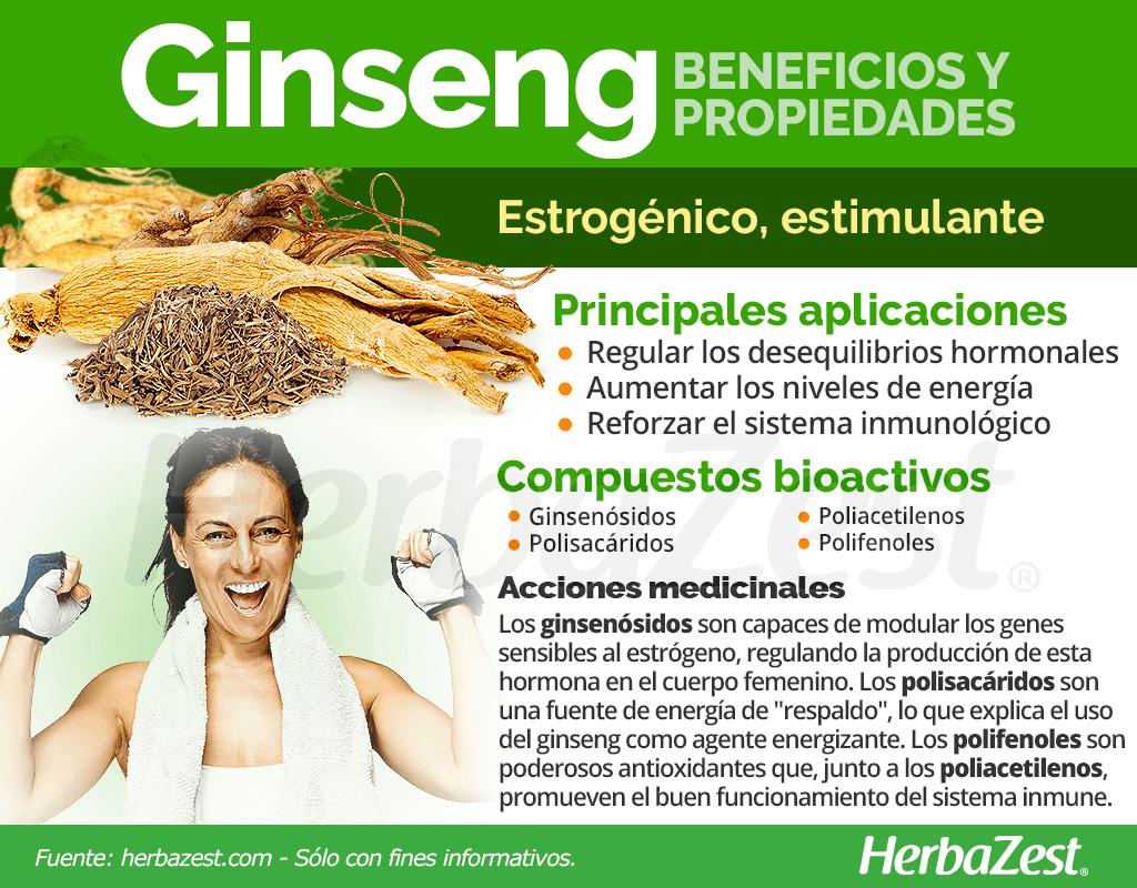 Beneficios y propiedades del ginseng