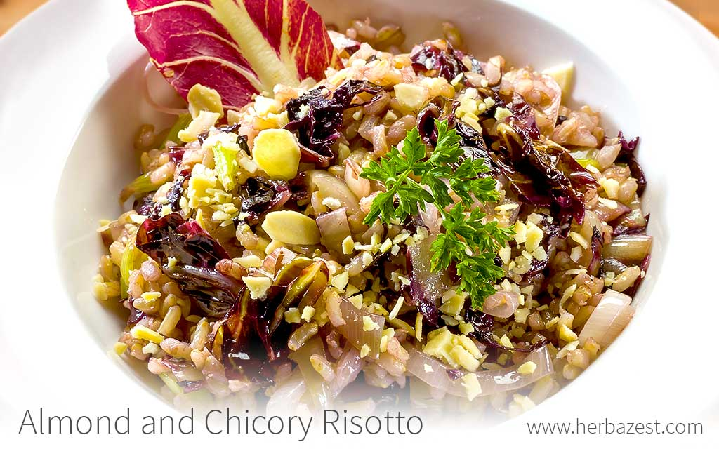Almond and Chicory Risotto