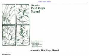 Alternative Field Crops Manual