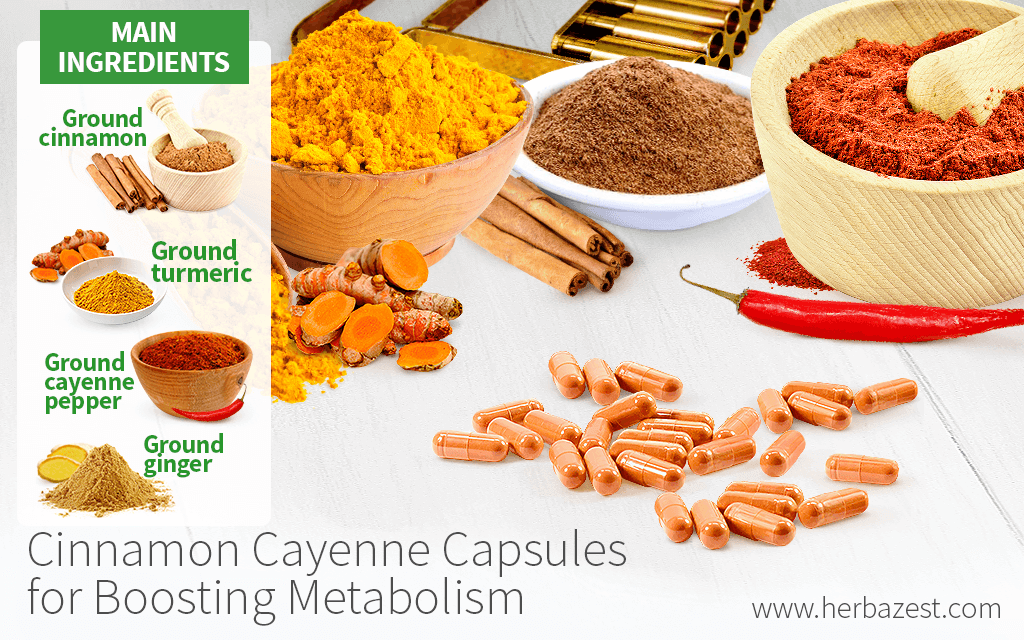 Cinnamon Cayenne Capsules for Boosting Metabolism