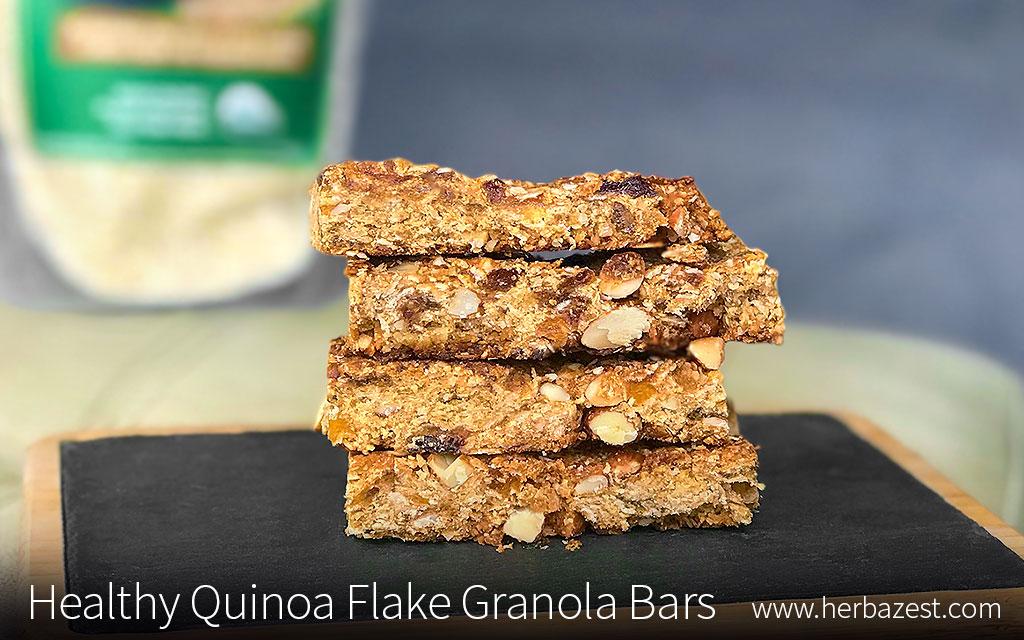 Healthy Quinoa Flake Granola Bars