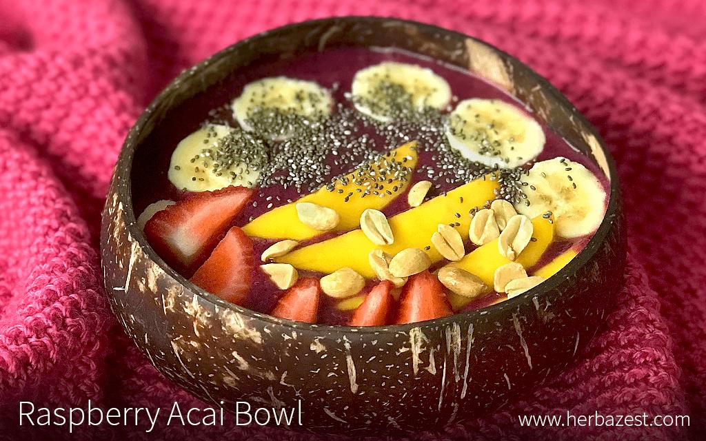 Raspberry Acai Bowl