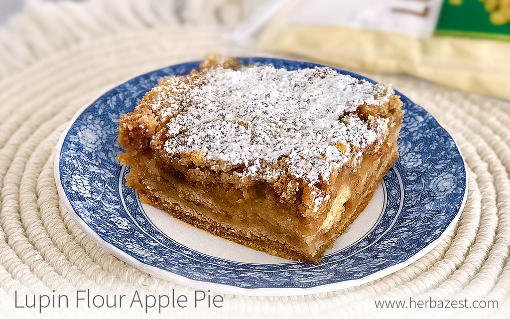 Lupin Flour Apple Pie