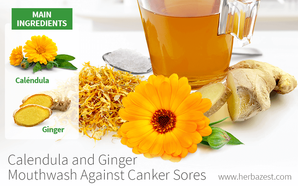 Calendula and Ginger Mouthwash Against Canker Sores