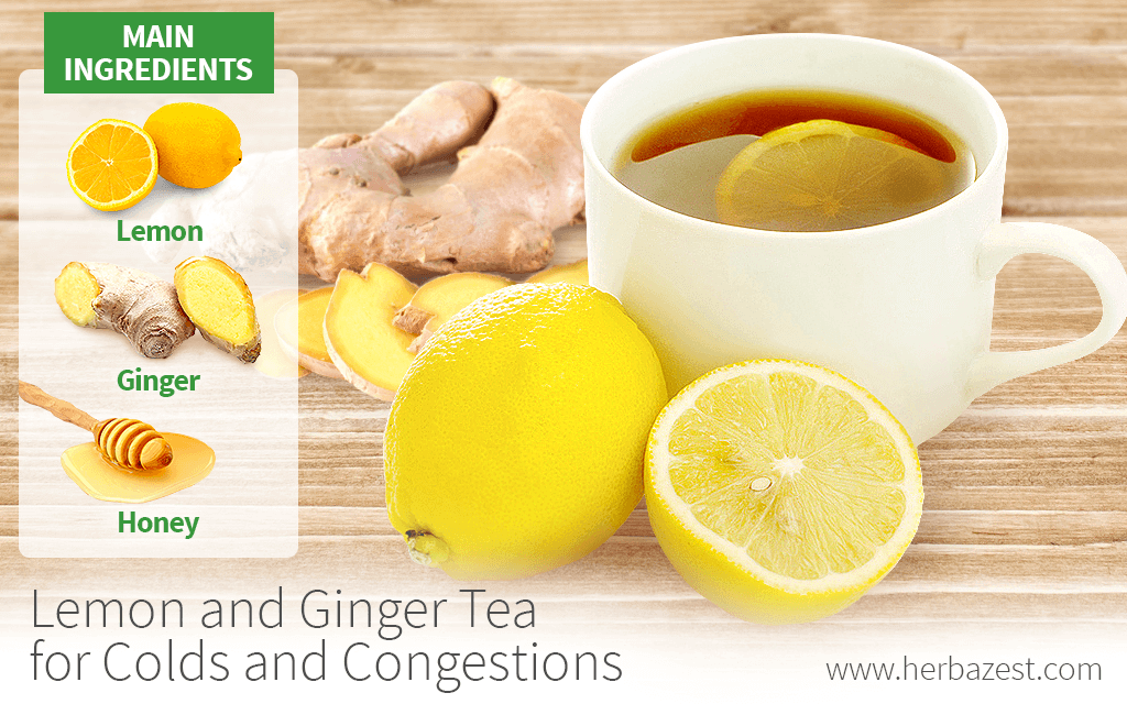 Lemon and Ginger Tea for Colds and Congestions