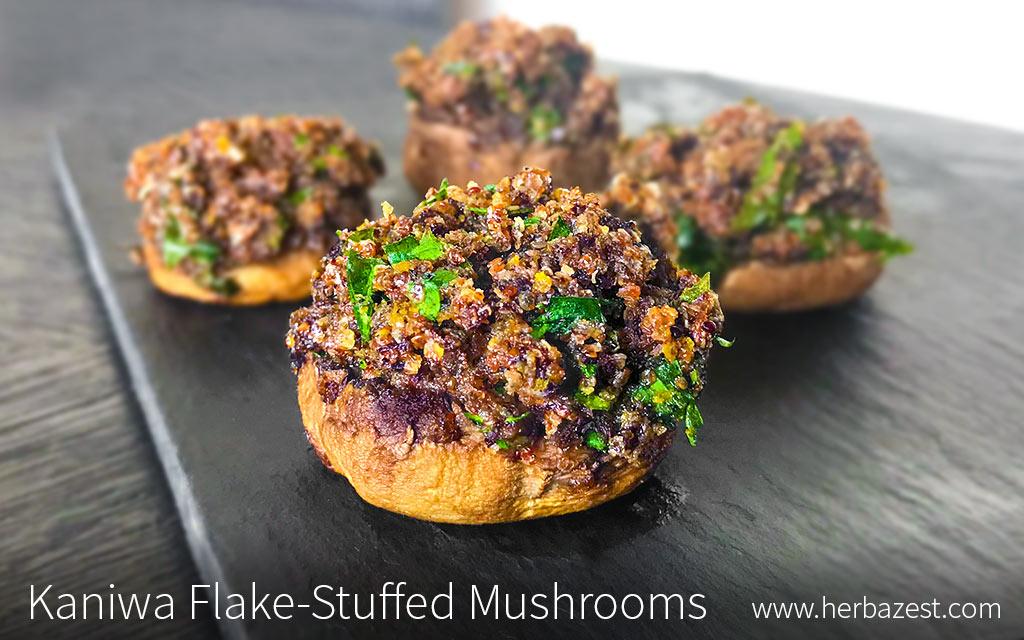 Kaniwa Flake-Stuffed Mushrooms