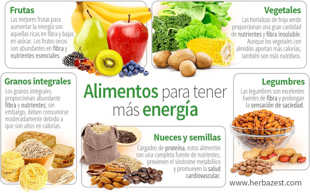 Alimentos para tener más energía