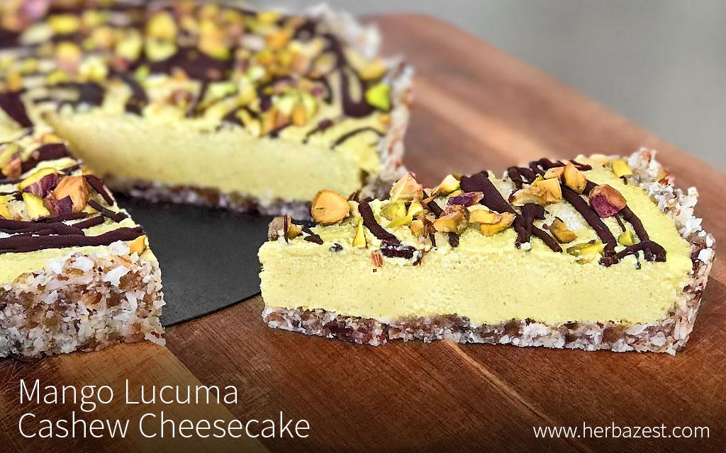 Mango Lucuma Cashew Cheesecake