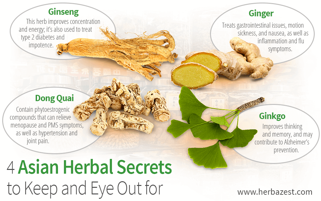 4 Asian Herbal Secrets to Keep an Eye Out for