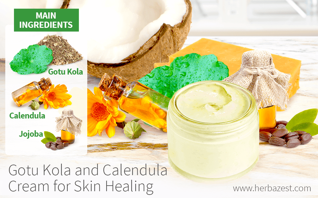 Gotu Kola and Calendula Cream for Healing Skin