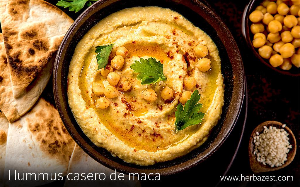 Hummus casero de maca