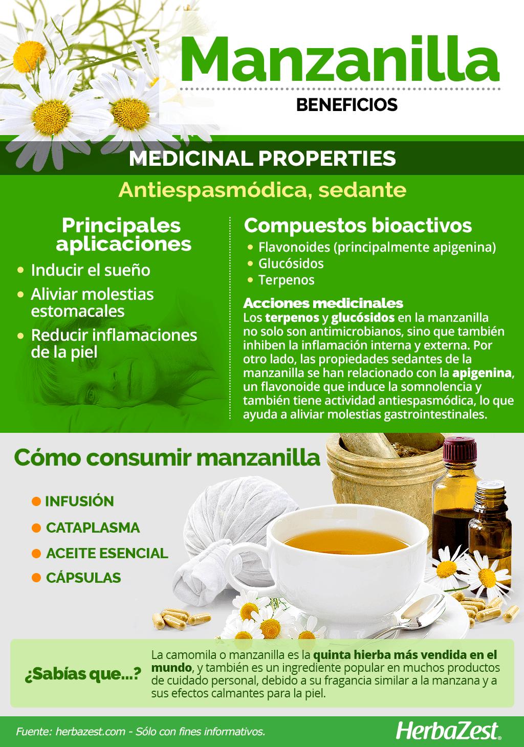 Beneficios de la manzanilla