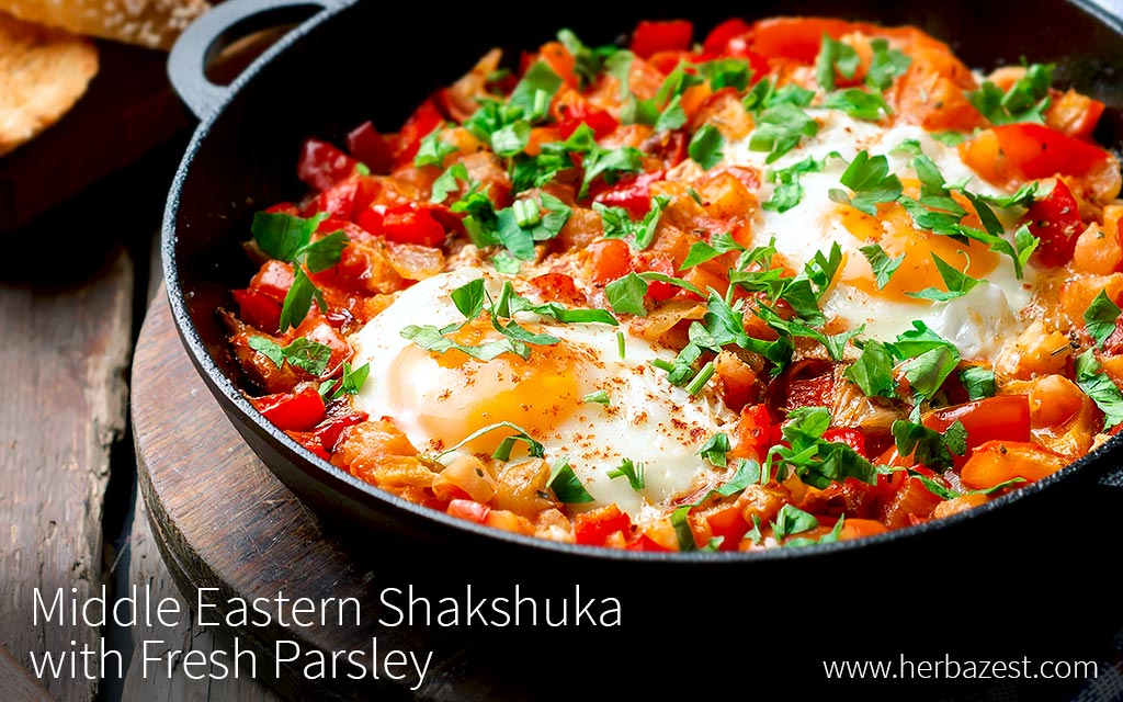 Middle Eastern Shakshuka with Fresh Parsley