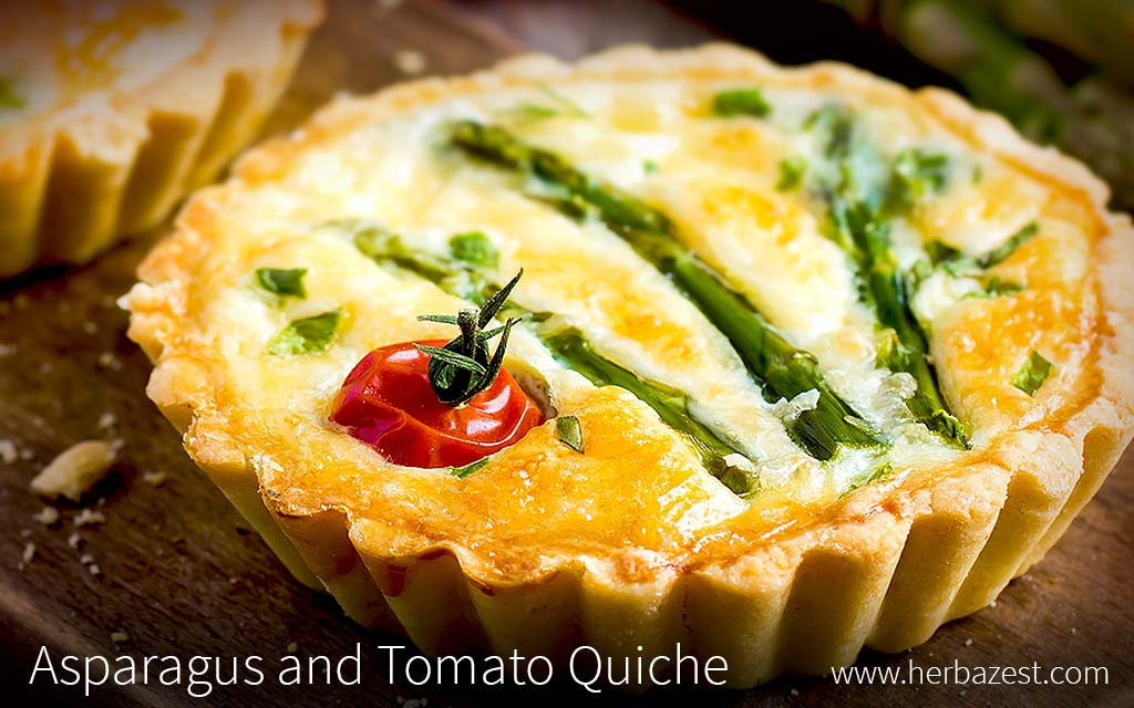Asparagus and Tomato Quiche