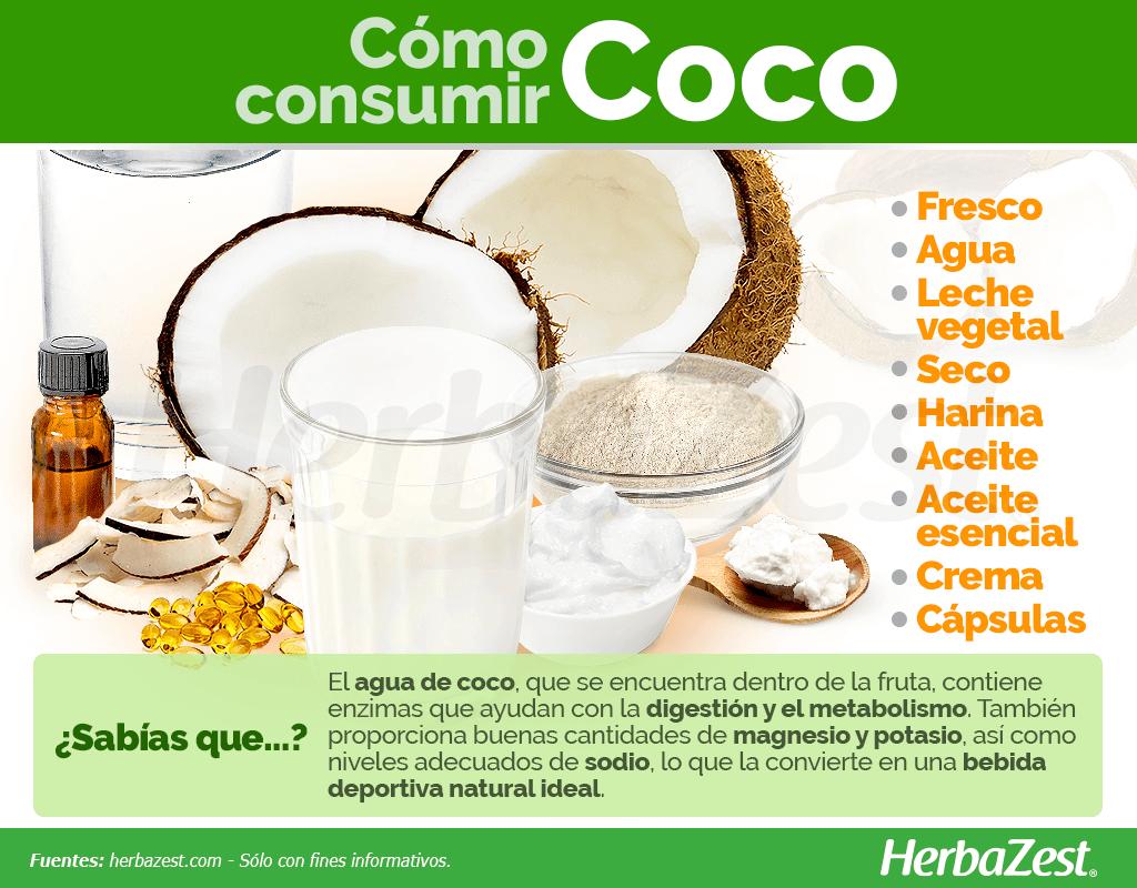 Cómo consumir coco