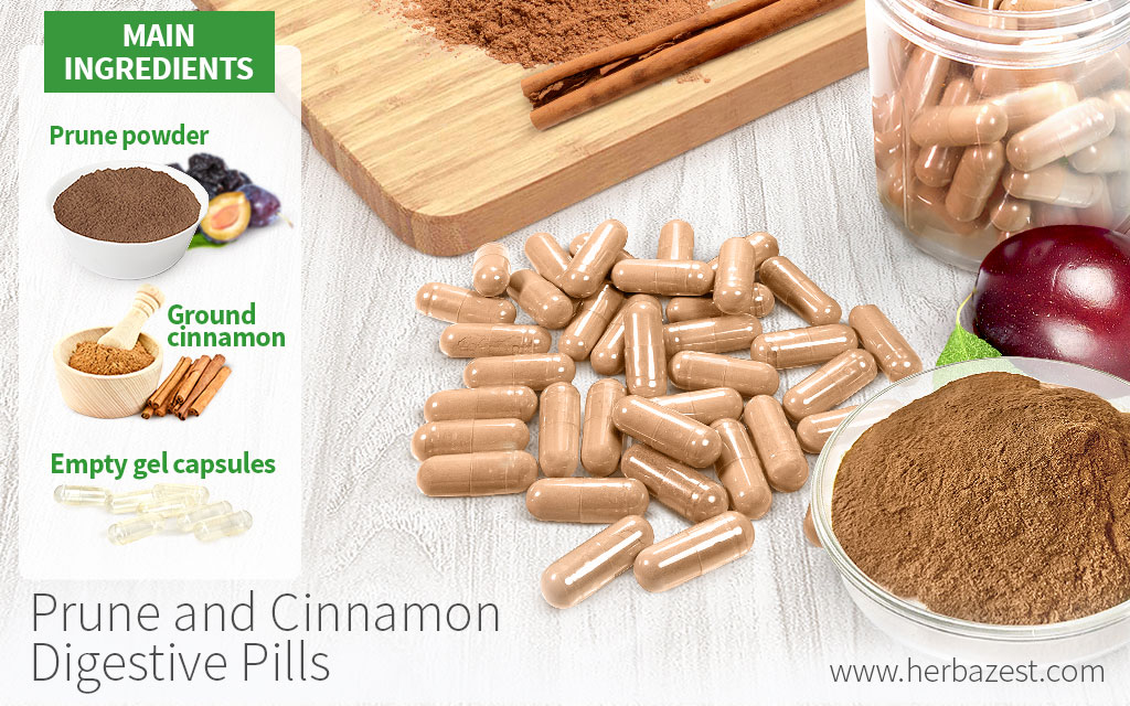 Prune and Cinnamon Digestive Pills