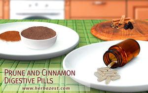 Prune and Cinnamon Digestive Pills
