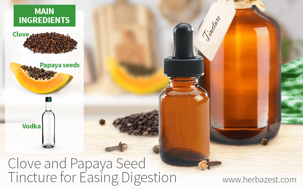 Clove and Papaya Seed Tincture for Easing Digestion