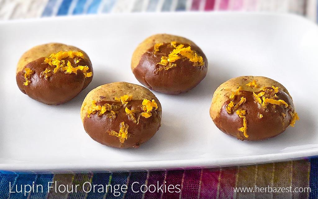 Lupin Flour Orange Cookies