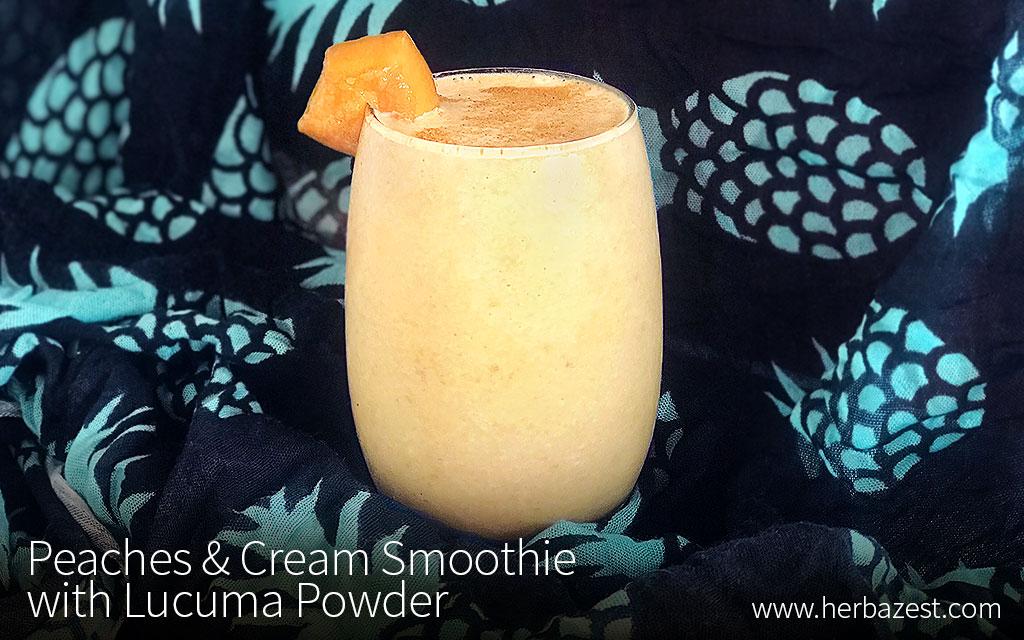 Peaches & Cream Smoothie with Lucuma Powder