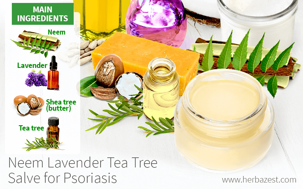Neem Lavender Tea Tree Salve for Psoriasis