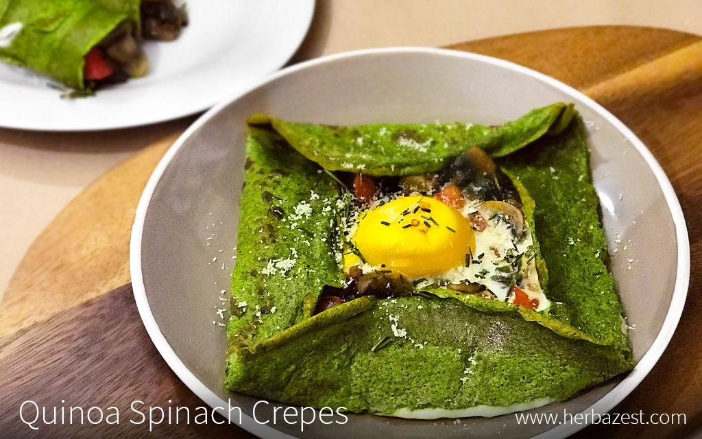 Quinoa Spinach Crepes