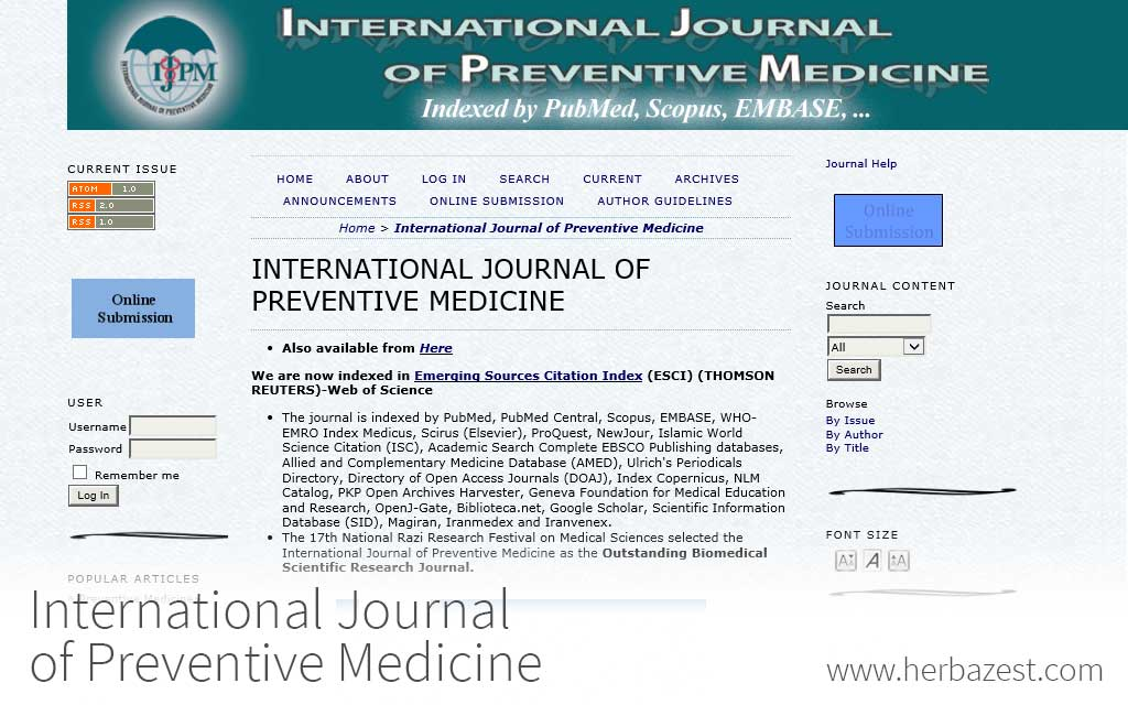 International Journal of Preventive Medicine