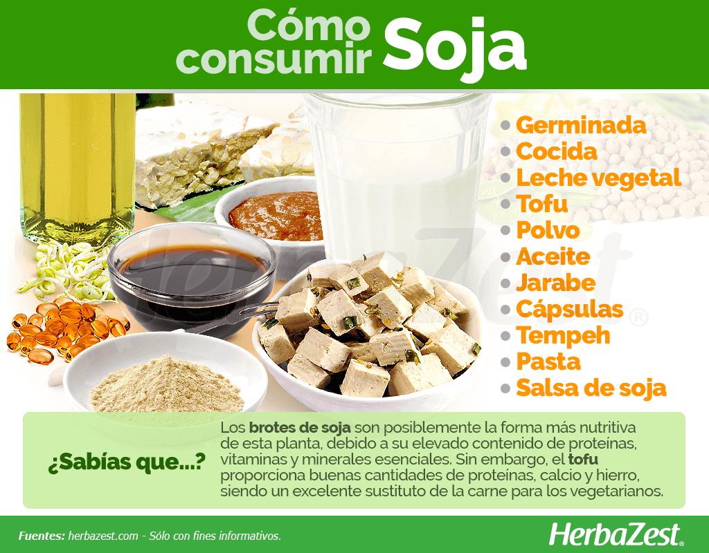Cómo consumir soja