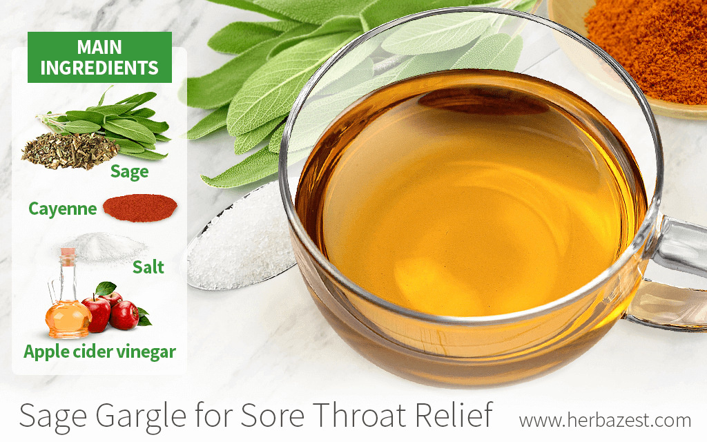 Sage Gargle for Sore Throat Relief