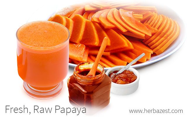 Fresh, Raw Papaya