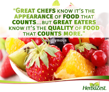 Quote: It is the Quality of Food that Counts