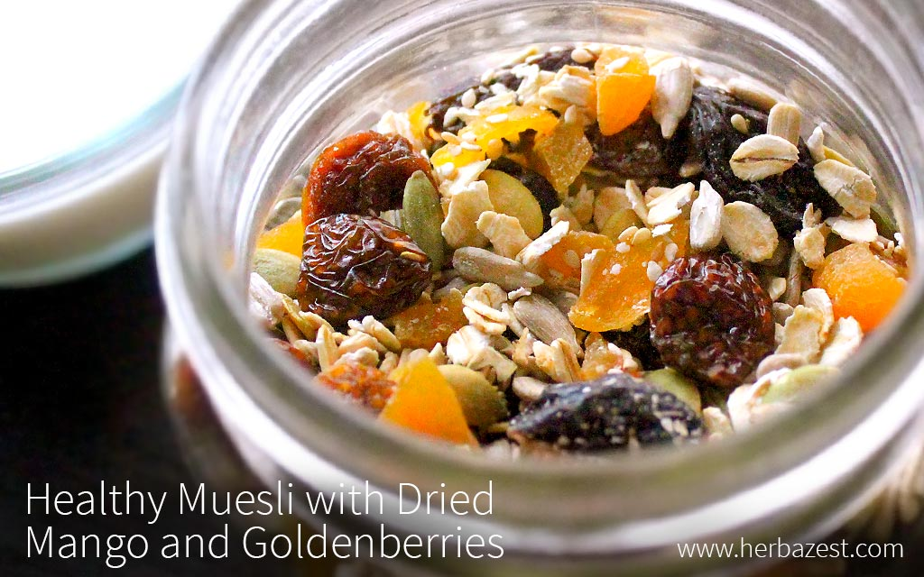 Homemade Muesli with Dried Mango and