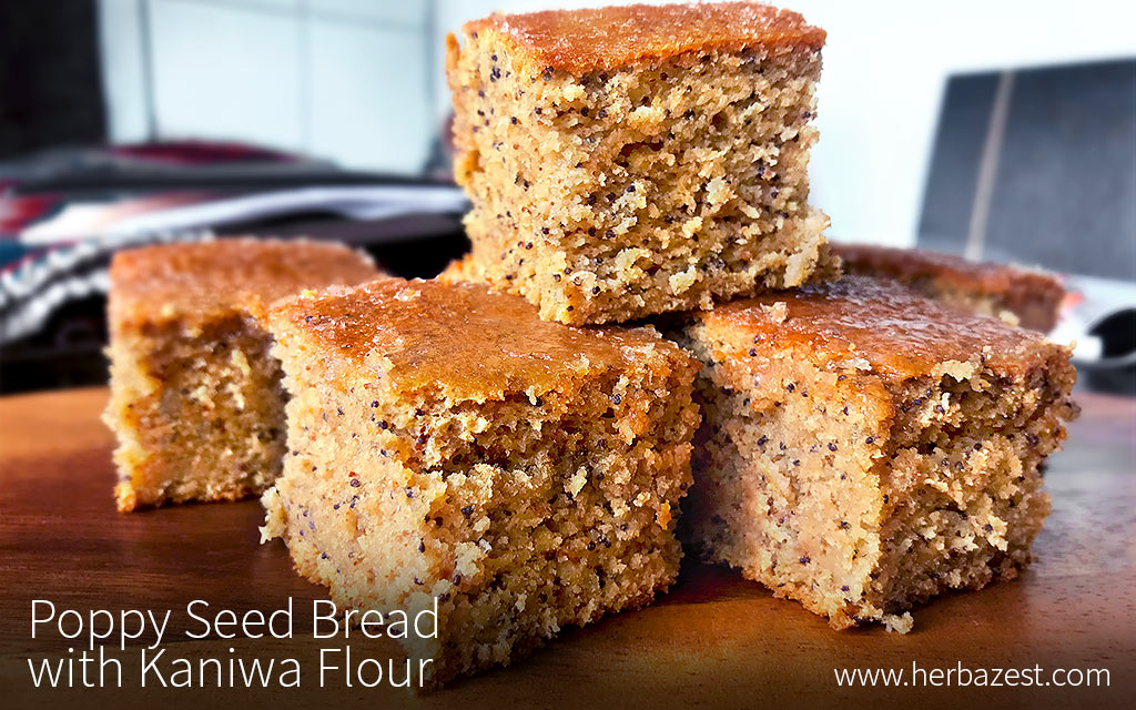 Poppy Seed Bread with Kaniwa Flour