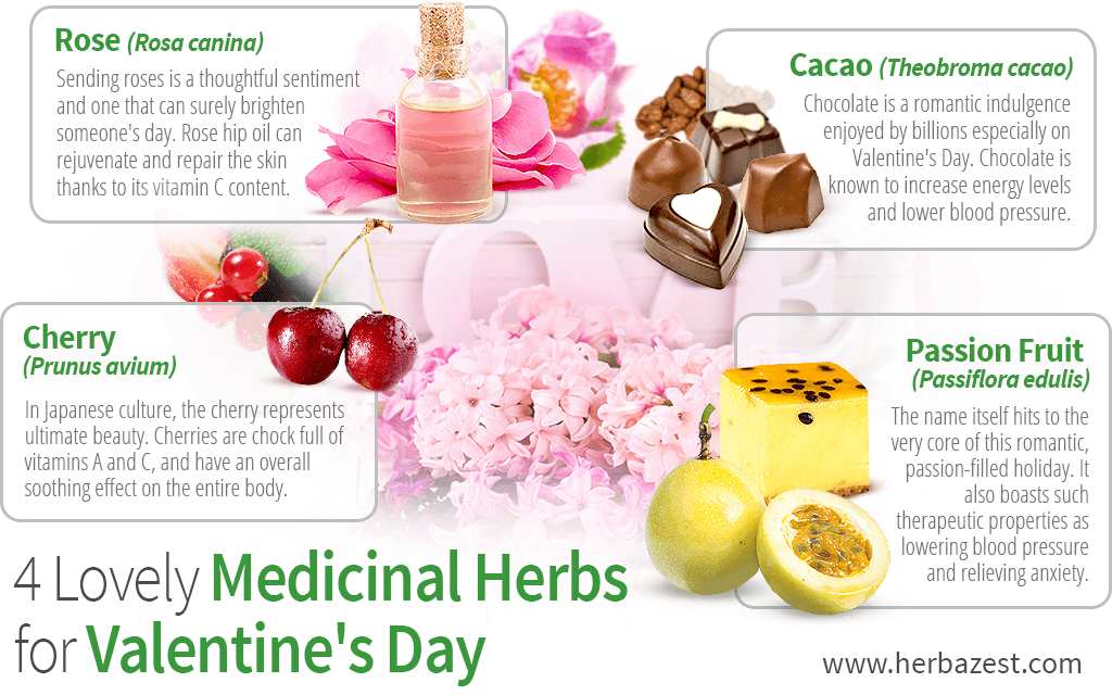4 Lovely Medicinal Herbs for Valentine's Day