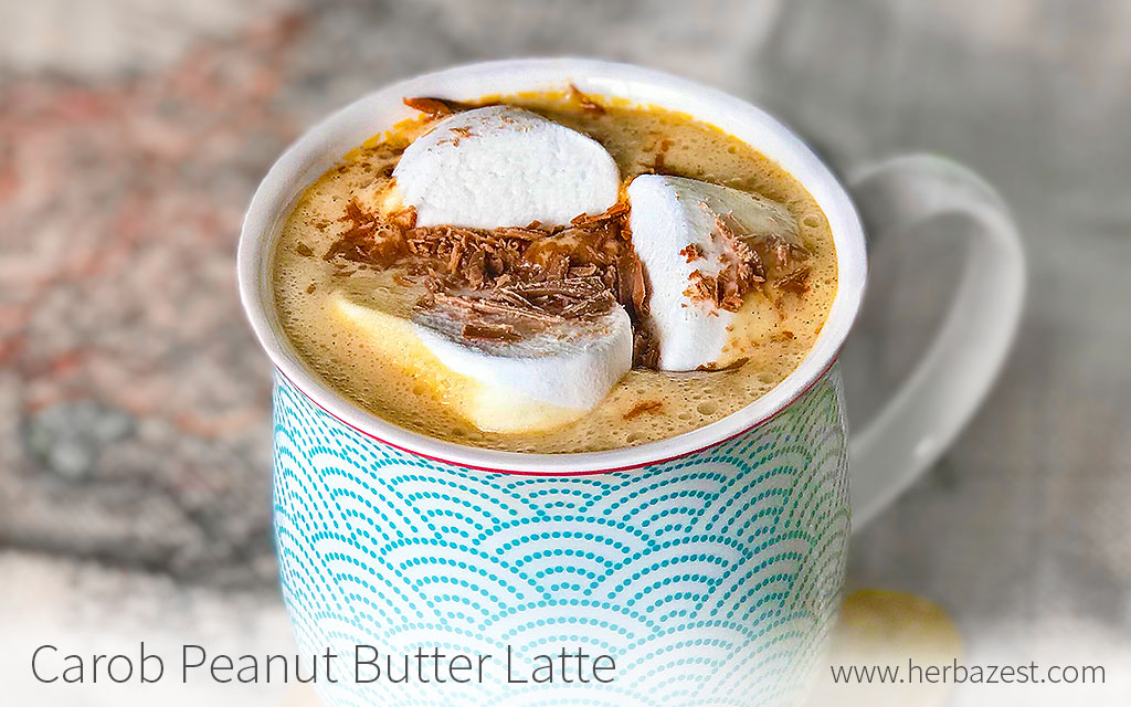 Carob Peanut Butter Latte