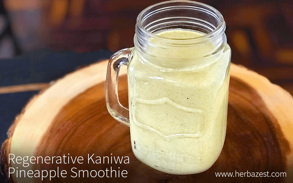 Regenerative Kaniwa Pineapple Smoothie