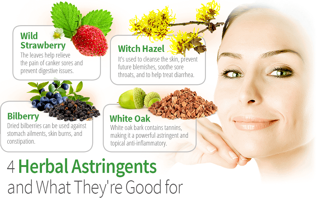 4 Herbal Astringents and What They're Good For
