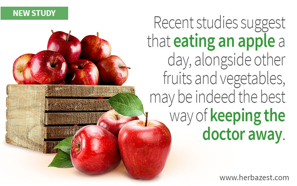 Recent studies suggest that eating an apple a day, alongside other fruits and vegetables, may be indeed the best way of keeping the doctor away.