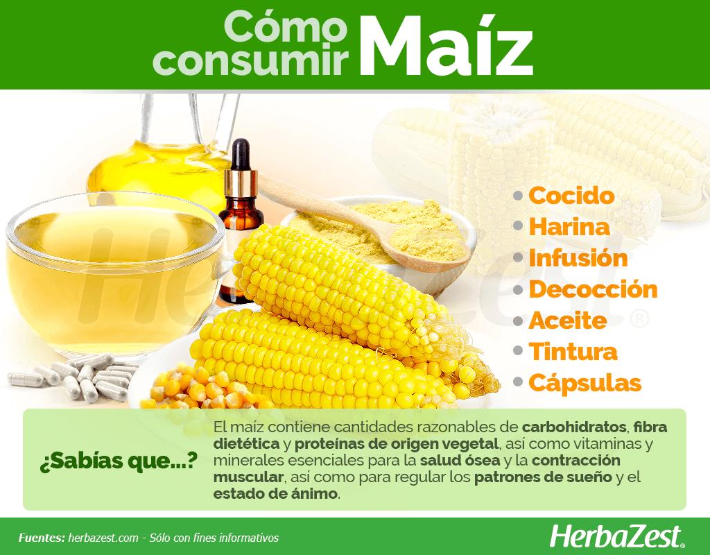 Cómo consumir maíz