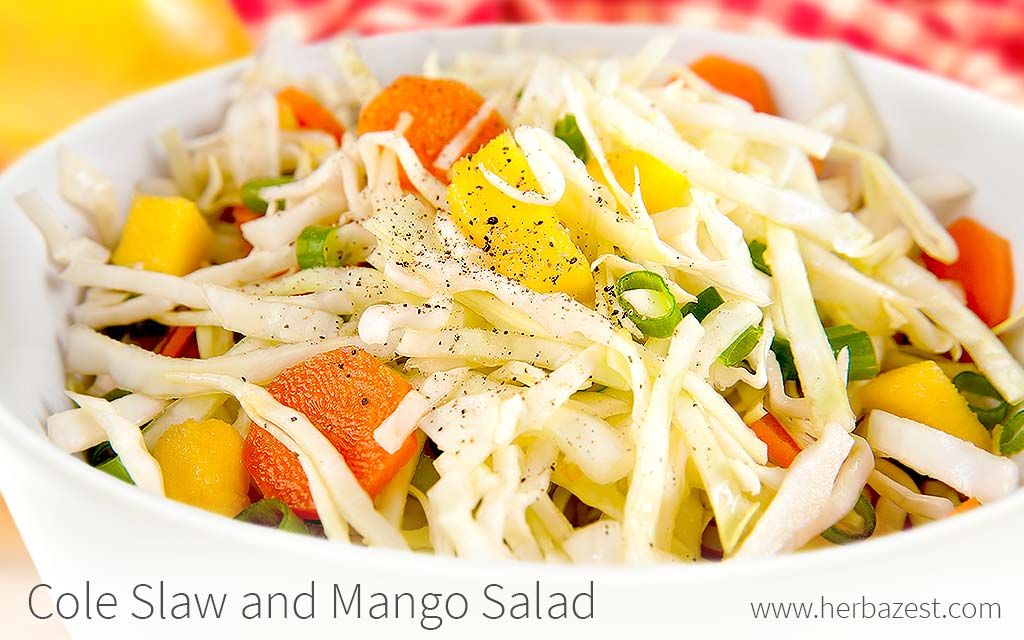 Cole Slaw and Mango Salad