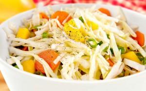 Cole Slaw and Mango Salad
