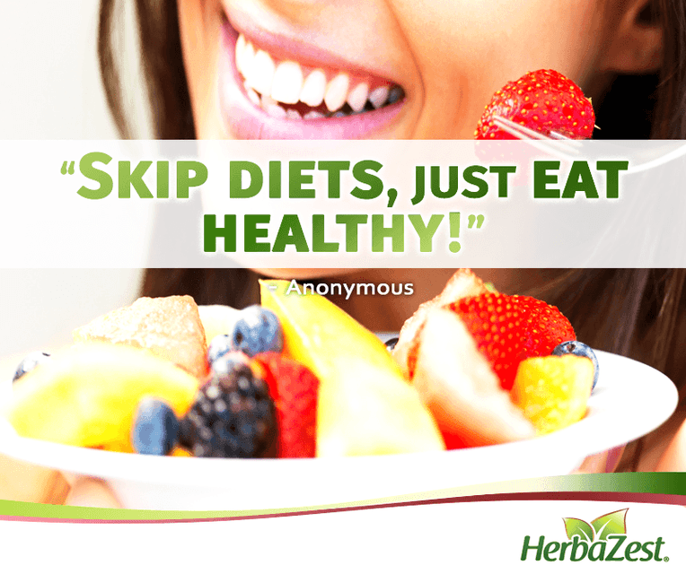 Quote: Skip Diets, Just Eat Healthy