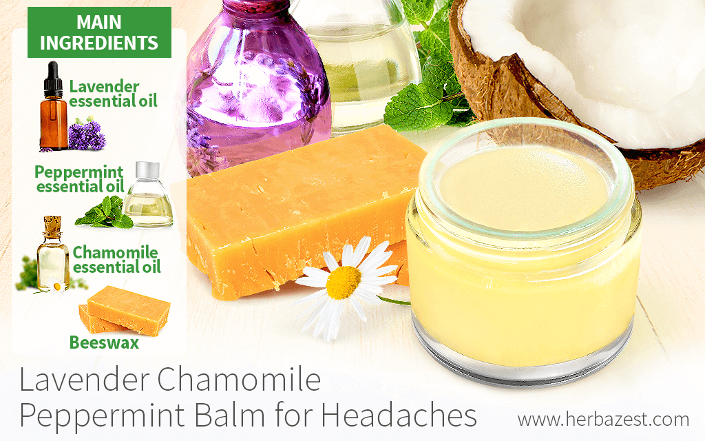 Chamomile Lavender Peppermint Balm for Headaches
