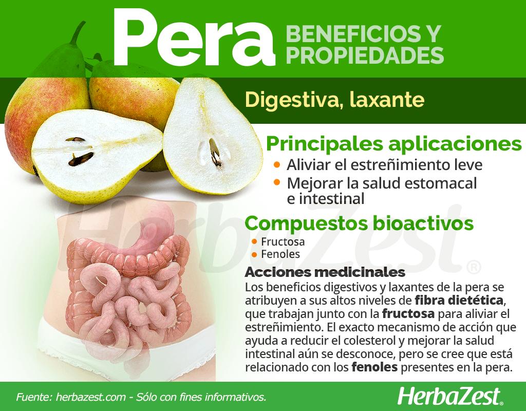 Beneficios y propiedades de la pera