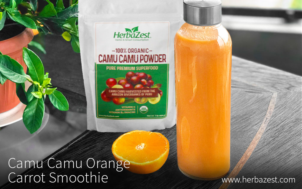 Camu Camu Orange Carrot Smoothie