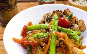 Tofu Veggie Stir Fry with Sacha Inchi Oil