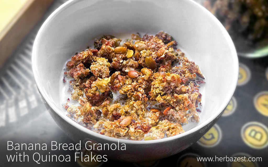 Easy Homemade Quinoa Flake Granola