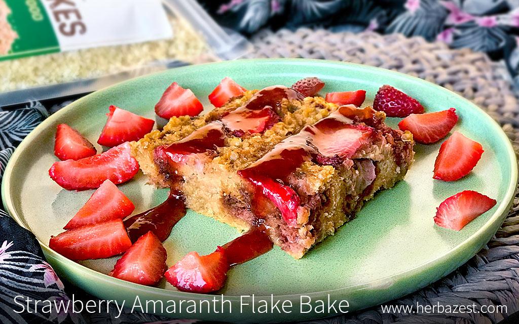 Strawberry Amaranth Flake Bake