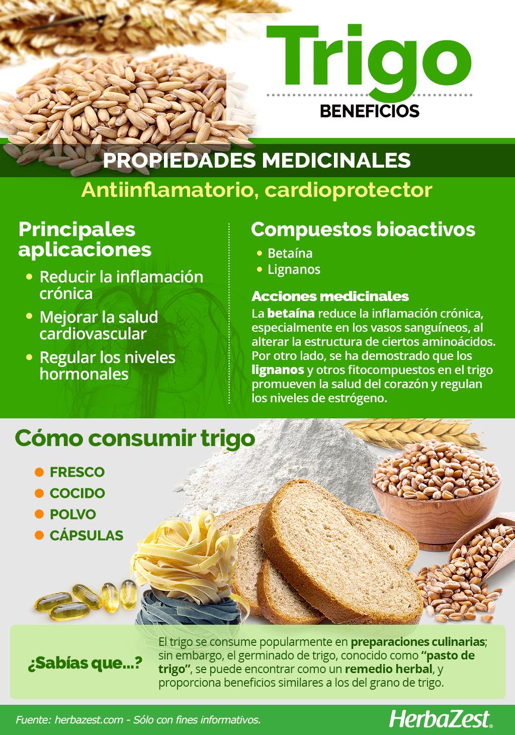 Beneficios del trigo